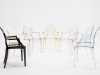 Louis Ghost Chairs Group courtsey of Kartell