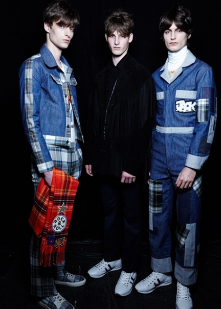 TOPMAN Design AW15, backstage (Sam Wilson, courtesy of British Fashion Council)