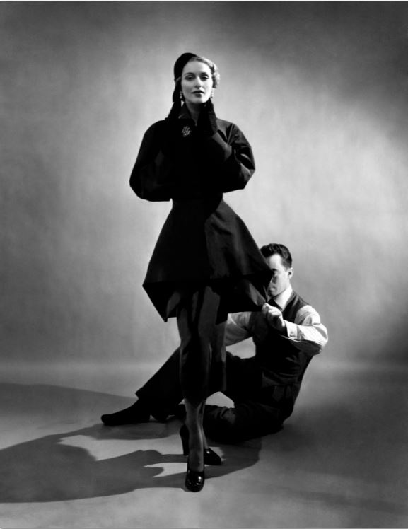 2. Charles James with Model, 1948  Courtesy of The Metropolitan Museum of Art, Photograph by Cecil Beaton,  Beaton / Vogue / Condé Nast Archive. Copyright © Condé Nast