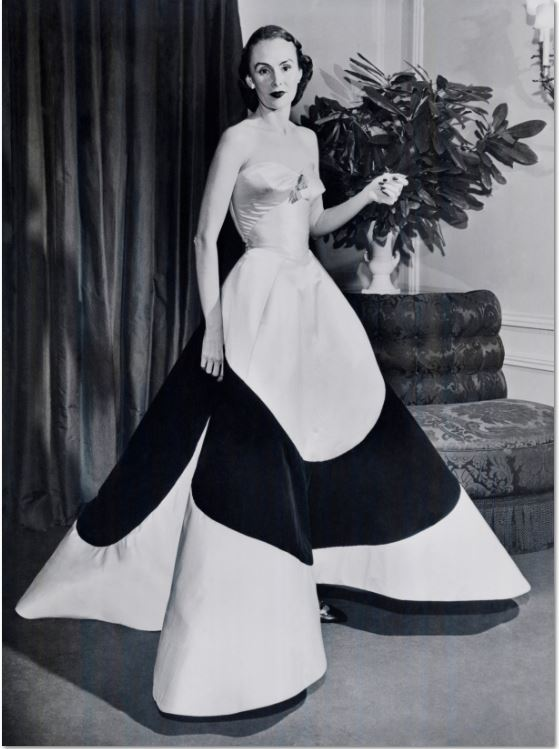 5. Austine Hearst in Charles James Clover Leaf Gown, ca. 1953  Courtesy of The Metropolitan Museum of Art, Photographer Unknown,  © Bettmann/CORBIS