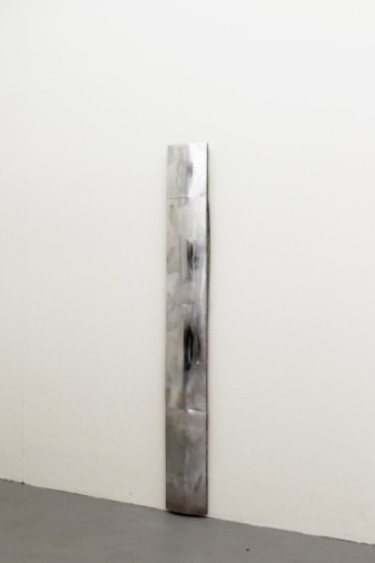 "7. Piotr Lakomy Untitled, 2014 183 x 22 x 8 cm / 72"" x 9"" x 3"" Aluminium plates, insulating foam The Sunday Painter Courtesy of the artist"