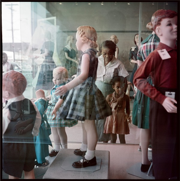 Gordon Parks (American, 1912–2006), Ondria Tanner and Her Grandmother Window-Shopping, Mobile, Alabama, 1956, courtesy of and copyright The Gordon Parks Foundation.