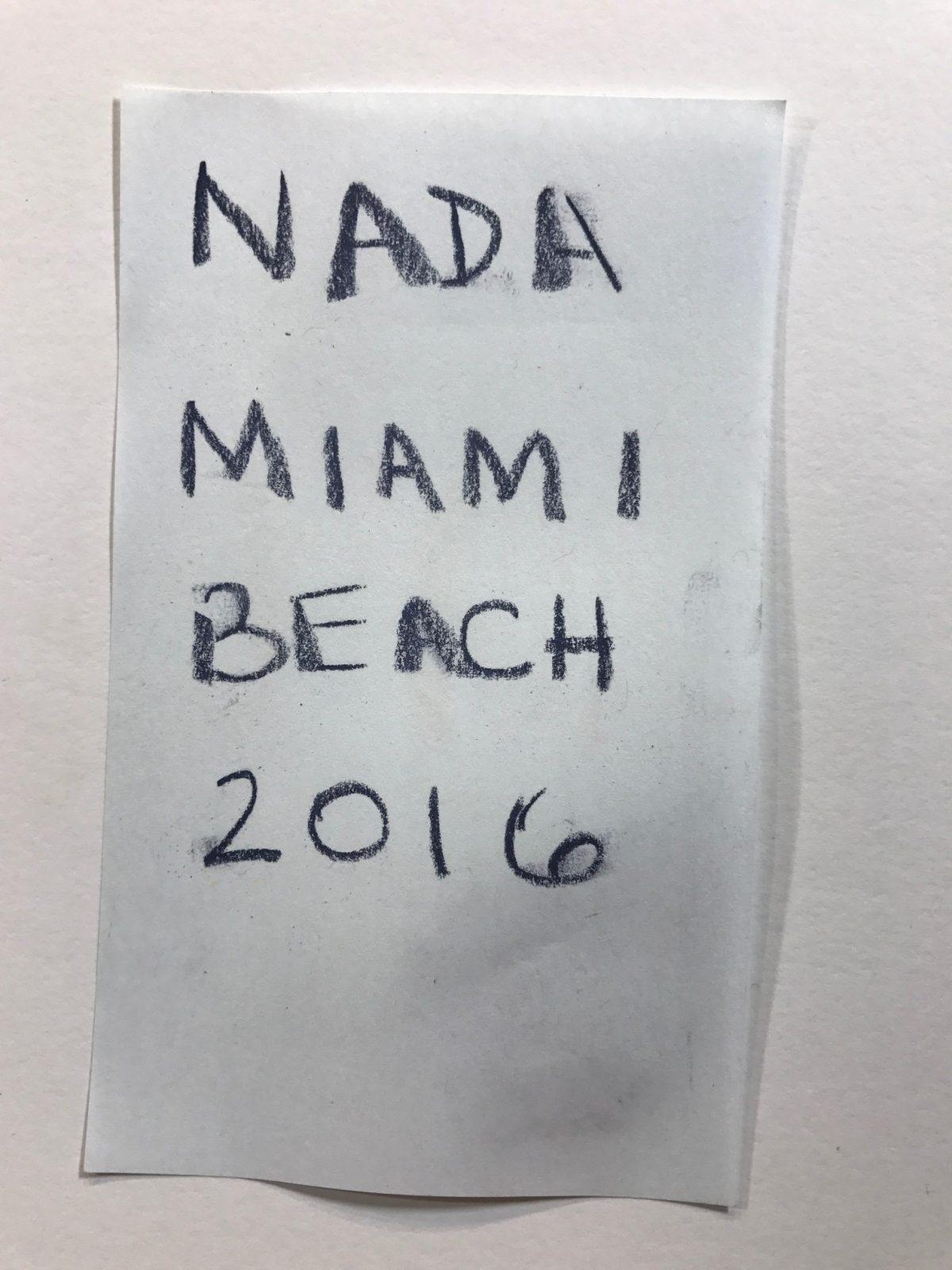 Upcoming Event: NADA Miami Beach 2016 Dec 1-4