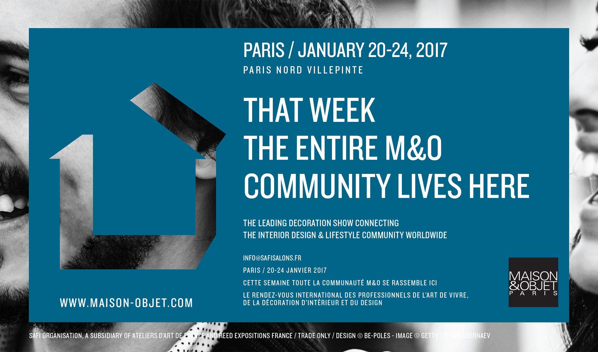 Upcoming event maison objet paris 2017